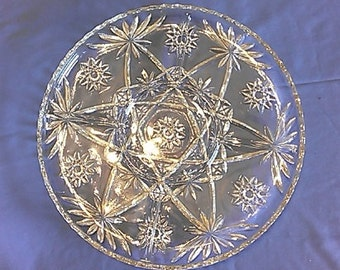 Large 5 Section Star of David Relish Tray