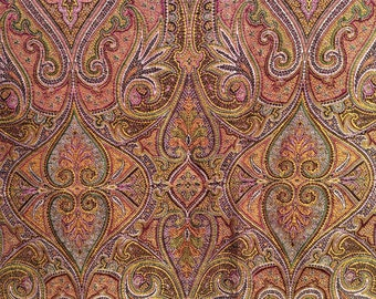 SALE 15% off listed price. Antique  Shot SILK SHAWL Paisley design Double Sided, Square, museum condition.