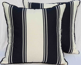 Ralph Lauren Navy and White Striped Pillow