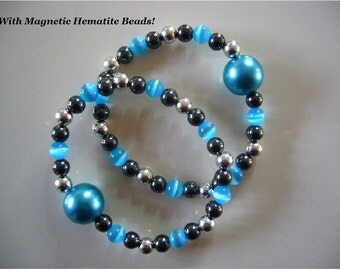 """Queasy Beads™ Motion Sickness Bracelets in """"Vibrant Turquoise"""""""