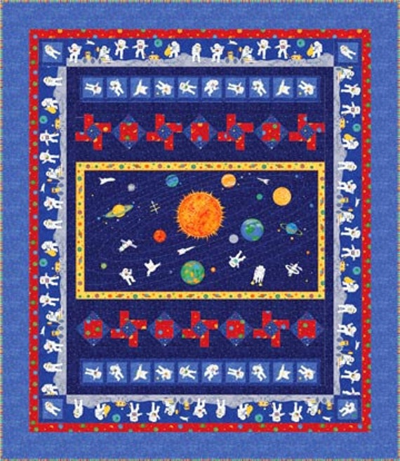 Moon walk quilt pattern by northcott fabrics by halfmoonquilts for Moon pattern fabric