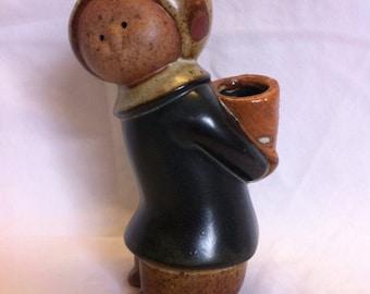 Vintage UCTCI Japan Pottery Girl Vase pot Figural