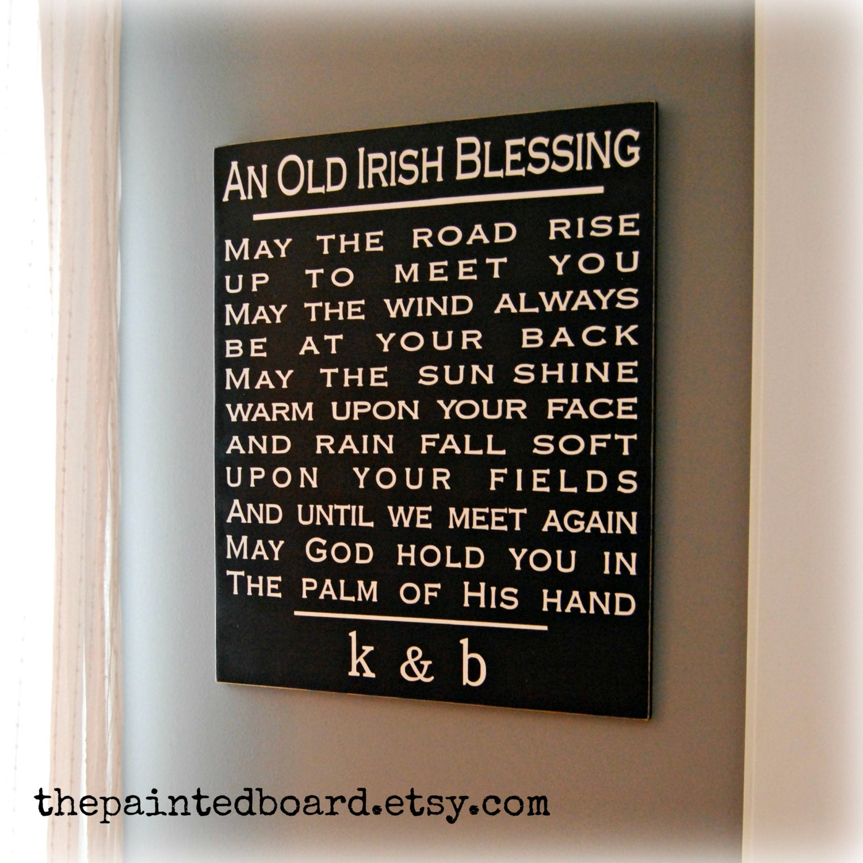 Irish Wedding Gift Ideas: Irish Blessing // Wedding Gift // Anniversary Gift // Bridal