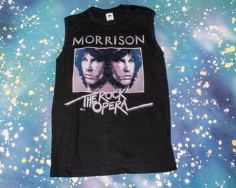 """JIM MORRISON """"The Rock Opera"""" T-Shirt Size: Large"""