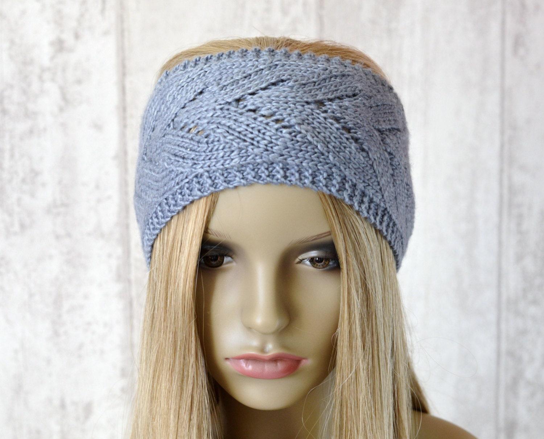 Knit Lace Headband Pattern : KNITTING PATTERN Chevron Lace Headband Summer by ...