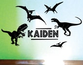 Custom Name Dinosaur Jurassic Park Tyrannosaurus Wall Art Vinyl Decal Sticker