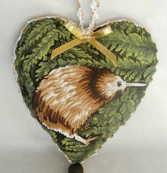 christmas decoration kiwi decoration kiwi heart by