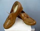Leather Oxfords / Vtg 70s...