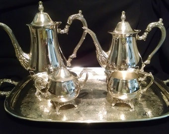 Vintage Silver Plated Tea & Coffee Service Set