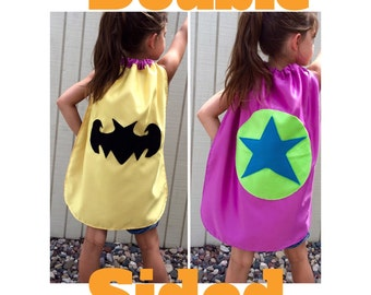 A Super Hero Cape/Double Sided/Two Capes in One