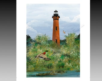 Currituck Lighthouse Outer Banks 8x10 Print