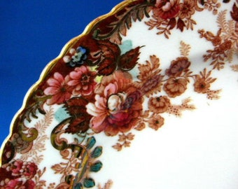 Polychrome Transferware Plate Imari Colors Radfords England 1890s Side Plate