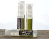 SALE - Lime, Basil & Mandarin Perfume Oil Roll On - lime scent perfume oil - unisex perfume oil - fresh scent perfume - summer perfume