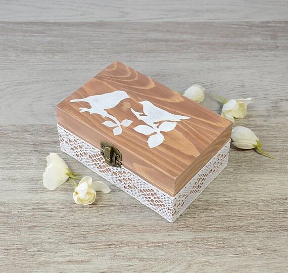 rustikale lace jute hochzeit ring bearer kissen im feld ring. Black Bedroom Furniture Sets. Home Design Ideas