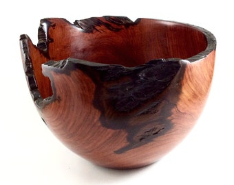 Wood Bowl No.150712- Cocobolo Natural Edge