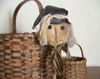 Primitive Grungy Witch Bobbin Fall Halloween Decor