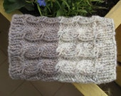 Knitt  Boot Cuffs  Outmeal  Tweed with Grey Beige Black Taupe  Cable Knit Boot Cuffs  Leg Warmers - Knit Boot Socks