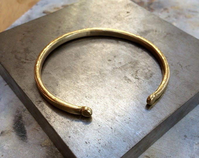 Dot Cuff Bracelet in Brass