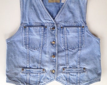 Tailored Denim Vest sz small