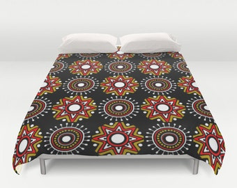 African Bedding, African Art Design Duvet Cover, Unique Bedding, Cute Bedding  Queen Duvet Cover, Full Duvet Cover, King Duvet Cover