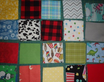 "Cheerful Four Inch Flannel Quilt Squares, 260 Total, 4x4, 4"" All Cotton Flannel - 0009"