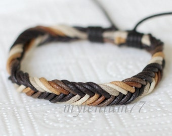 755 Women's color ropes bracelet Cotton ropes bracelet Braided ropes bracelet Woven ropes bracelet Fashion jewelry For women and girls