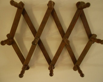 REDUCED.....Peg accordian rack, necklace hanger, primitive towel rack and cup holder, tie rack