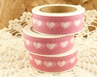 Pink Heart Washi Tape - LL2000