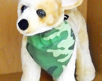 Camo Pet Bandana Size Small