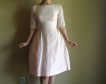 50s 60s Pink Bridesmaid Perfect Summer Party Dress