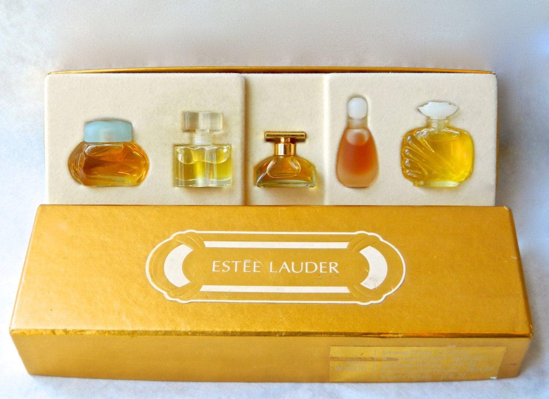 Vintage Estee Lauder Small Wonders 5 Perfume Gift Set Fitted