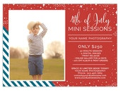 4th of July Mini Session Template, Photography Marketing Templates, Summer Mini Session Marketing Board, Photography Templates AD187