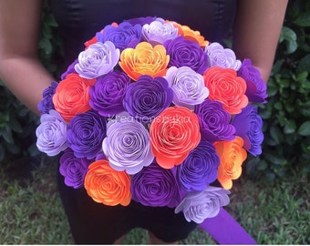 Fall Bloom- Paper Flower Rosette Bouquet //Paper Bridal Bouquet // Kusudama Origami Bouquet/ Wedding/ Paper Rosettes
