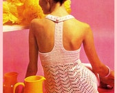 Crochet Pattern, Crochet Dress Pattern, Crochet PDF Pattern, Crochet Mini Dress Pattern, Crochet Instant Download Pattern
