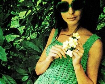 Vintage 70's Crochet HIPPIE Dress - PDF Pattern - Instant Download