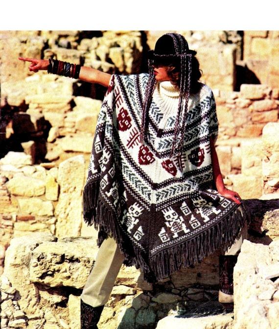 Aztec Knitting Pattern : Vintage 70s Aztec Knit