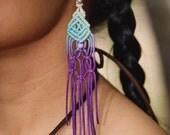 Macrame  chandelier earrings