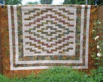 RESERVED FOR MARI - Queen Quilt - Nature's Splendor Batik