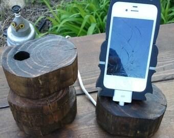 Little Chunks Wooden Phone Charger handmade