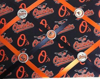 Baltimore Orioles French Memory Board, Baltimore Orioles Fabric Board, French Memory Board, Orioles Ribbon Board, Baltimore Baseball