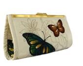 Butterfly wedding clutch/ Bridal accessory/ Bridesmaids gift idea/Rustic  wedding purse/ Boho / Evening purse bag/ Cocktail purse/ Handmade