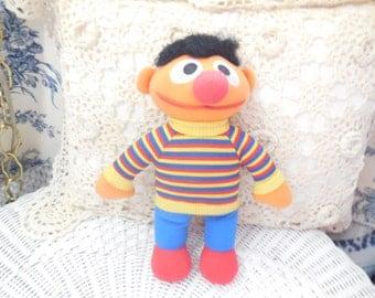 Vintage Stuffed Ernie Doll 1984 /Sesame Street:)S