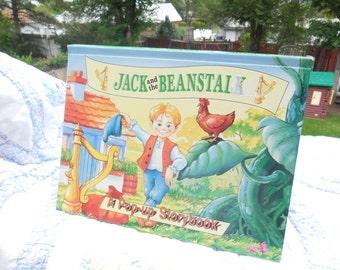 PoP Up Book, Jack and the Beanstalk  A Pop-up Storybook, Children's Book, Vintage Children's Pop Up Book, Vintage Children's Book, :)s