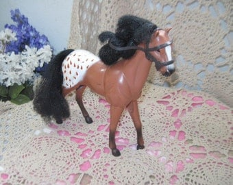 Brown and White Small Horse Kid Kore 1994 ,Horses,Small Horses,Vintage Toy Horses,Vintage Toys,Toys,Not Included in Coupon Sale  / IO:)S