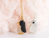 Baby Penguin Necklace, Whimsical Animal Jewelry, AJ