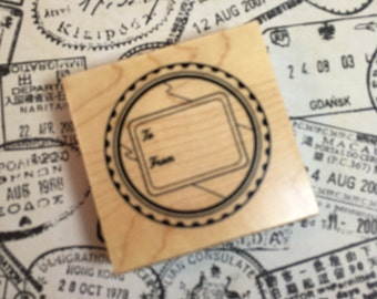 Tag Stamp / To From Rubber stamp by INKADINKADO