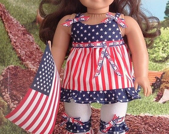 Stars and Stripes Capris Set for American Girl
