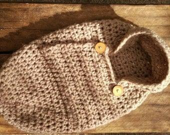 Neutral Crochet Baby Cocoon