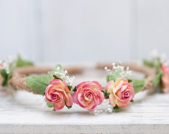 Rose and Twine Flower Crown - Baby Flower crown