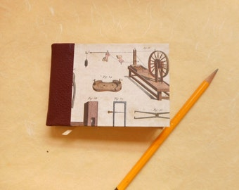 """Small Hand-made blank book: """"Tools"""".  Diary or Travel Journal. Pocket sized"""